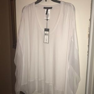 BNWT!  BCBG Sz Medium White Blouse